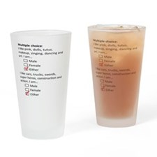 Multiple Choice Drinking Glass