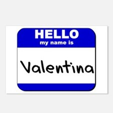 hello my name is valentina  Postcards (Package of