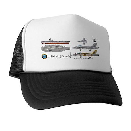 F/A-18 Hornet USS Nimitz CVN-68 Trucker Hat