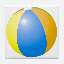 big beach ball Tile Coaster