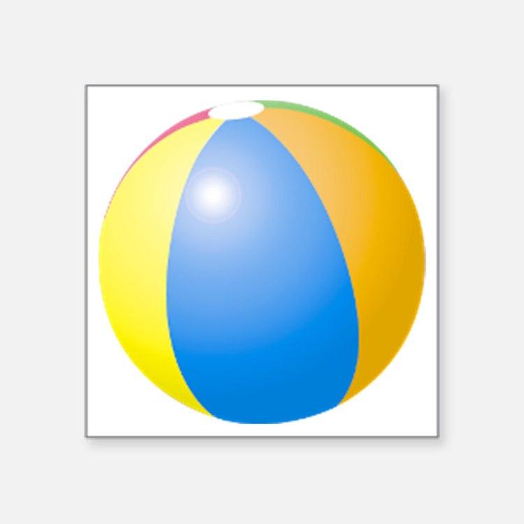 "big beach ball Square Sticker 3"" x 3"""