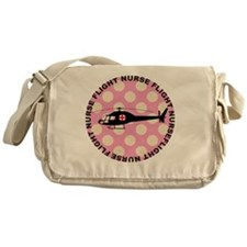 Flight Nurse Pink Polka dots Messenger Bag