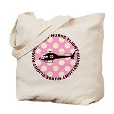 Flight Nurse Pink Polka dots Tote Bag