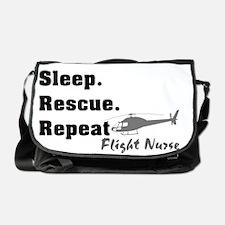 Flight Nurse eat sleep repeat Messenger Bag