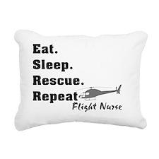 Flight Nurse eat sleep r Rectangular Canvas Pillow