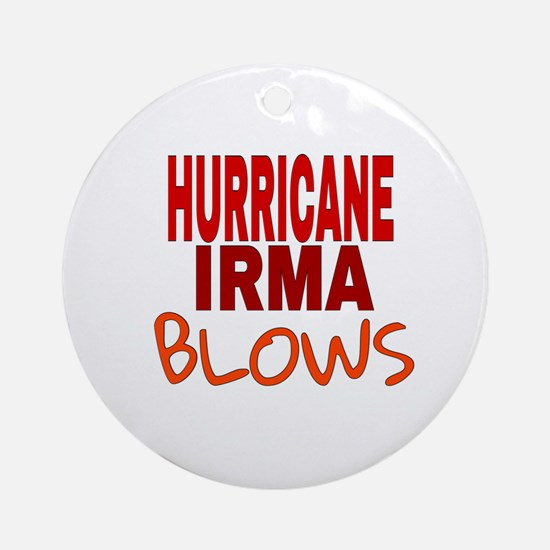 Hurricane Irma Blows Round Ornament