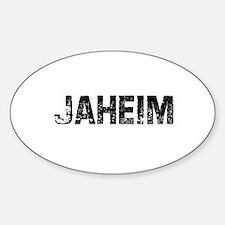 Jaheim Oval Stickers