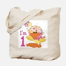 Duckie Girl First Birthday Tote Bag