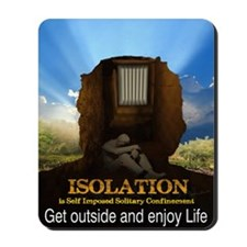 Isolation Poster Mousepad