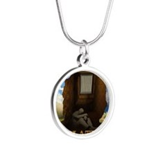 Isolation Poster Silver Round Necklace