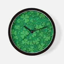 Shamrock Pattern Wall Clock