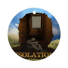 Isolation Poster Round Ornament
