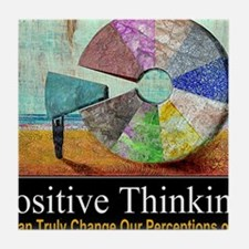 Positive Thinking Tile Coaster