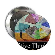 """Positive Thinking 2.25"""" Button"""