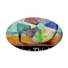 Positive Thinking Oval Car Magnet