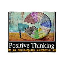 Positive Thinking Throw Blanket