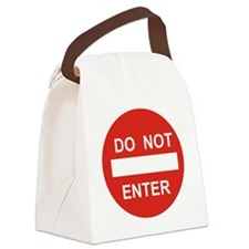 SIGN - DO NOT ENTER Canvas Lunch Bag