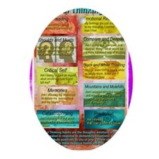 Unhelpful Thought Habits skill poste Oval Ornament