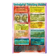 Unhelpful Thought Habits  Postcards (Package of 8)