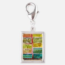 Unhelpful Thought Habits ski Silver Portrait Charm