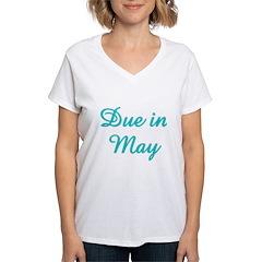 Due In May Aqua Shirt