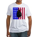 Belgian Sheepdog & Flag Fitted T-Shirt
