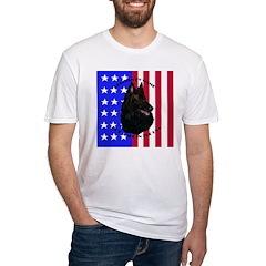 Belgian Sheepdog & Flag Shirt