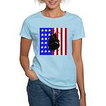 Belgian Sheepdog & Flag Women's Light T-Shirt
