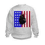 Belgian Sheepdog & Flag Kids Sweatshirt