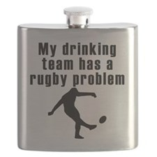My Drinking Team Has A Rugby Problem Flask