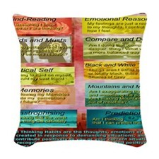 Unhelpful Thought Habits Woven Throw Pillow