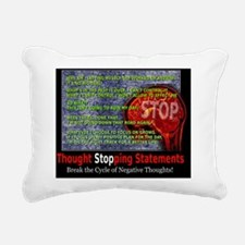 Thought stopping stateme Rectangular Canvas Pillow