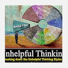 Unhelpful Thinking Styles Tile Coaster