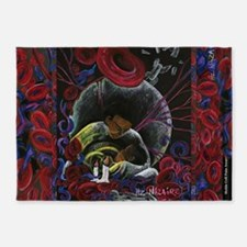 Sickle Cell Pain Awareness 2 SS 5'x7'Area Rug