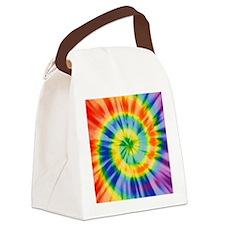 Printed Tie Dye Pattern Canvas Lunch Bag