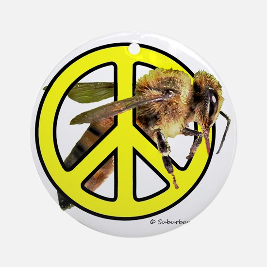 Give Bees A Chance! Round Ornament