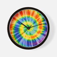 Printed Tie Dye Pattern Wall Clock
