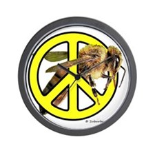 Give Bees A Chance! Wall Clock