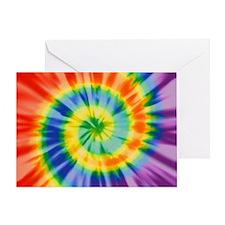 Printed Tie Dye Pattern Greeting Card