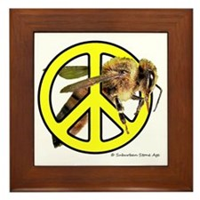 Give Bees A Chance! Framed Tile