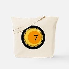 Seven 7 Sins Number Design Tote Bag
