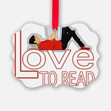 Love to Read Teen BL Ornament