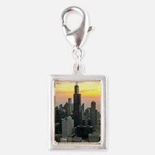 Chicago Silver Portrait Charm