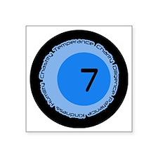 "Seven 7 Virtues Number Desi Square Sticker 3"" x 3"""