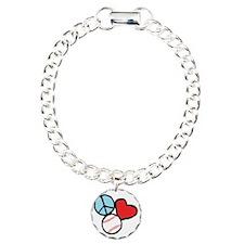 Peace, Love, Baseball Bracelet