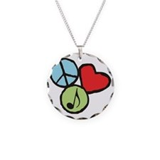 Peace, Love, Music Necklace