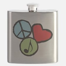 Peace, Love, Music Flask