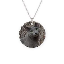 Russian Blue Cat Necklace