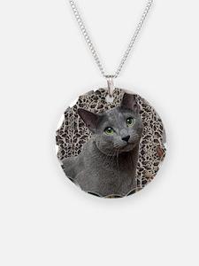 Russian Blue Cat Necklace