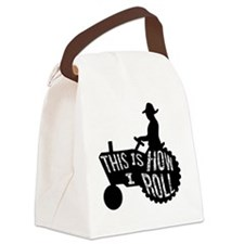 This is How I Roll Tractor Canvas Lunch Bag